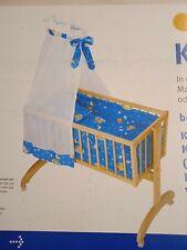 roba Babywiege gebraucht (Holz) mit Bettset und Himmel