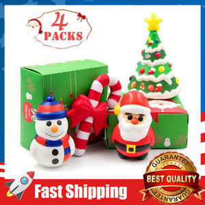 4 Pack Santa Jumbo Squishies Toys Slow Rising Christmas Santa Xmas Gift