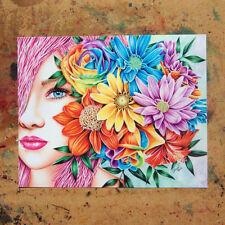 8x10 Inch Art Print Colorful Inspiring Print Flowers Portrait Roses Rainbow Art