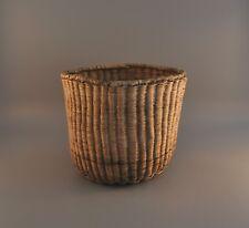 Old Hopi Indian Wicker Basket Bowl - Third Mesa -  Circa early 1900s