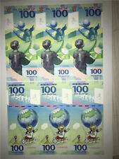 One Piece of 3-Uucut 2018 Russia World Cup Banknote/Paper Money/ Currency/ UNC