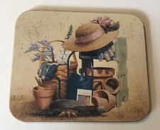 2 Longaberger Coasters With Various Baskets And A Bonnet In It
