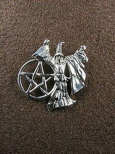 Sorcerer's Pentagram .925 Sterling Silver Occult Wizard Merlin's Magic Pendant J
