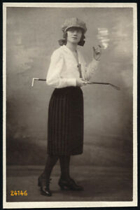 Larger size mounted fine art Photograph, modern woman w cigarette smoke 1920'