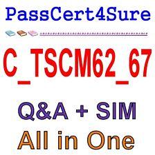 SAP Best Exam Practice Material C_TSCM62_67 Exam QA PDF+SIM