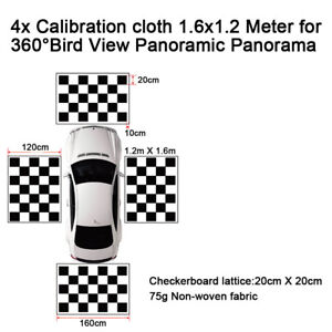4×Calibration Cloth 1.6×1.2 Meter for 360°Bird View Panoramic Panorama for Opel