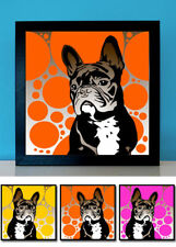 Französische Bulldogge No.2 Pop Art retro Bild Hund 3 St. Poster Frenchie Fotos