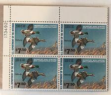 RW47 Plate Block PB4 1980-1981 Federal Duck Stamp Mallards VF MNH APS LIFE