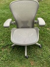 Herman Miller Aeron Classic Titanium Silvergrey Posturefit Chair Size B