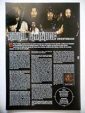 COUPURE DE PRESSE-CLIPPING :  RITUAL CARNAGE  07/2002 Danny Carnage,The Birth...