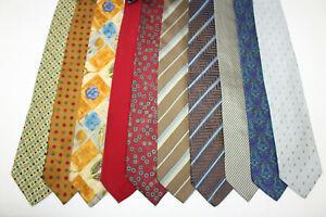 LOT OF 10 ERMENEGILDO ZEGNA  silk ties MADE IN ITALY. F16335