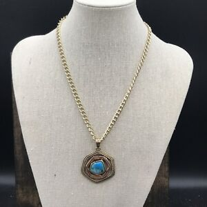 Barse Multiplicity Necklace- Mixed Metals & Turquoise-New With Tags