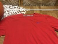 Nike red short sleeve T shirt tee Small Regular Fit c18
