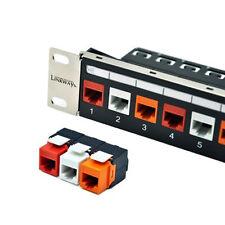 Cat6 24-Port Modular Patch Panel - Incl.24pcs Keystone Jacks (Tool Free Connect)
