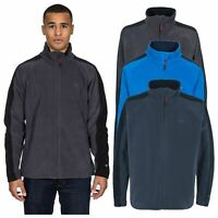 Trespass Acres Mens Full Zip Fleece Jacket Warm & Heavyweight Blue Grey & Green