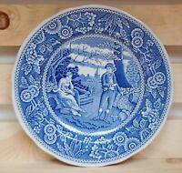 "Spode Blue Room Woodman Georgian Series Salad Plate 7 1/2"" Made in England"