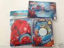 Marvel Ultimate Spiderman Swimming Hat Swim Cap & Goggles & Swim Ring