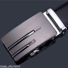 2016 Men Genuine Leather Automatic Buckle Belts Black Waist Strap Belt Waistband