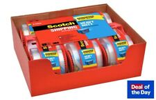 Scotch Clear Shipping Packing Tape 3m 188x800in 6 Rolls With Dispenser Heavy Duty