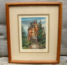 "Tom Brittain ETCHING~""ELTZ CASTLE""~Signed, LImited Edition~3/40~Most DIVINE!!"