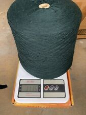 blend with 70% lambswool 20% angora & 10% nylon yarn cone color in dark green #1