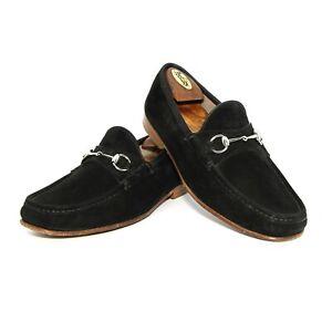 Mens Gucci Horsebit Loafers 1953 Anniversary Tab Shoes Black UK 11 US 11.5 Eu 45