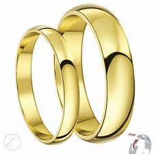 18ct Yellow Gold His & Hers D Shape Wedding rings 3&5mm