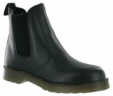 Grafters Mens Black Leather Dealer Chelsea Air Cushion Soles Pull On Boots