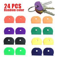 US 24Pc Key Top Cover Cap Head Tag ID Markers Top Caps Mixed Topper Keyring Sort