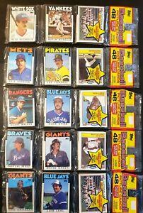 1986 Topps Baseball - Rack Pack Variety - Lot of 5 Factory Sealed Packs!