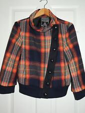 L.A.M.B. Plaid Bomber Jacket Wool Fall 2008 Women's 8 By Gwen Stefani