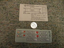 Miller Herald King decals HO C-480A Union Pacific caboose safety slogans  J16