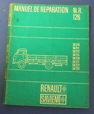 Manuel de réparation renault saviem M.R. 126  super goelette SR 210 ... SR 224