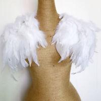 Women Shawl Collar Cape Wrap Feather Fringe Party Stylish Jazz Evening Black