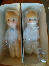 "Precious Moments ""Jesus Loves Me"" Boy and Girl Dolls-NIB"