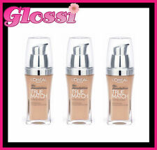 3 X L'OREAL TRUE MATCH SUPER BLENDABLE FOUNDATION MAKEUP ❤C3 ROSE BEIGE ❤ GLOSSI