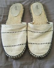 SEED HERITAGE Beige Natural Canvas Round Toe Flats Slides Size 41    1