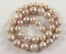 10-13mm Natural Pink Baroque FreshwaterPearl Beads Cultured Baroque Pearls(#471)