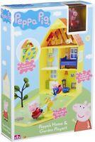 Peppa Pig Casa Hogar Y Jardín Parque Infantil Con Accesorios Juguete 3+
