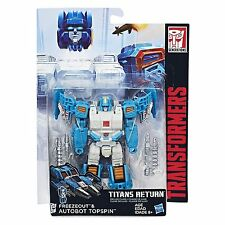 Transformers Titans Return Deluxe Wave 4 Autobot Topspin &Titan Master Freezeout