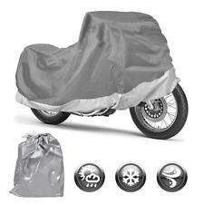 All Weather Motorcycle Cover Motor Bike Outdoor & Indoor Waterproof (M) Snug Fit