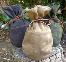Large Waxed Canvas Sami Style Pouch Bushcraft Survival Camping Fire Kit Gaming