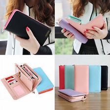 Fashion Women Long Purse Leather Wallet Phone Bag Zip Card Holder Handbag Clutch