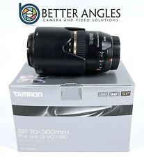 CANON Tamron 70-300mm f4.0-5.6 Di VC USD SP Lens-Risk Free Guaranteed!