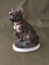 Ceramic Scottish Terrier Dog FigurineUnknownOrginVintage Ugly