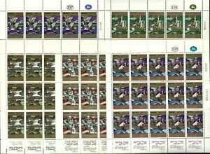 ISRAEL 1968 Stamp Sheets THE OLD AND NEW JERUSALEM - NEW YEAR FESTIVALS  MNH XF