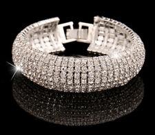 Bling Wedding Bridal Crystal Diamante Rhinestone Stretch Bracelet Best