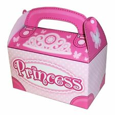 Pink Princess Party Favor Treat Boxes girls birthday supply lot 12 free shipping