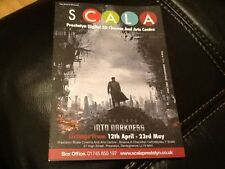 PROMOTIONAL FILM LISTINGS U.K SCALA CINEMA  2012 . STAR TREK, VINYL , IRON MAN 3