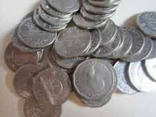 Roll of 1956 Canada Five Cents Coins. (40 Coins) (RJ484)